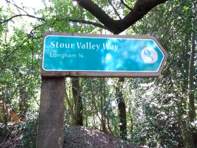 Stour Valley Way signpost to Longham