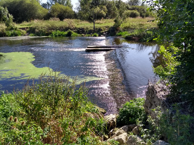 A weir along the Stour between West Parley and Longham
