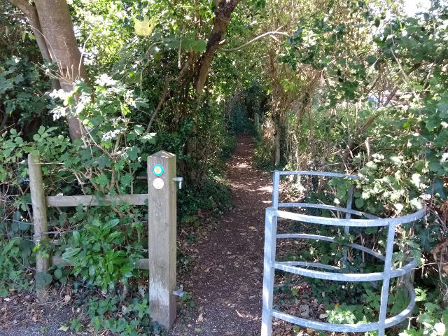 The start of the Stour valley way path at the Pear